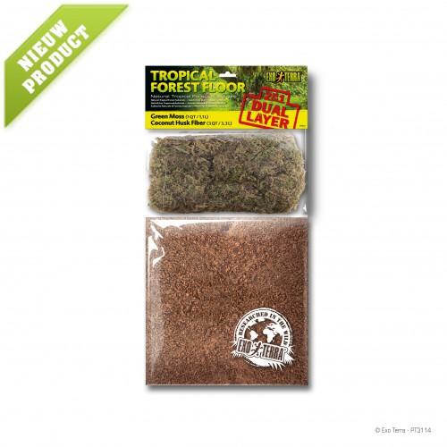 Tropical Forest Floor 4.4L - Green Moss & Coconut Husk Fiber