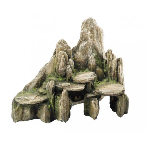 Deco steen met mos Groen 25.5x15.5x20cm