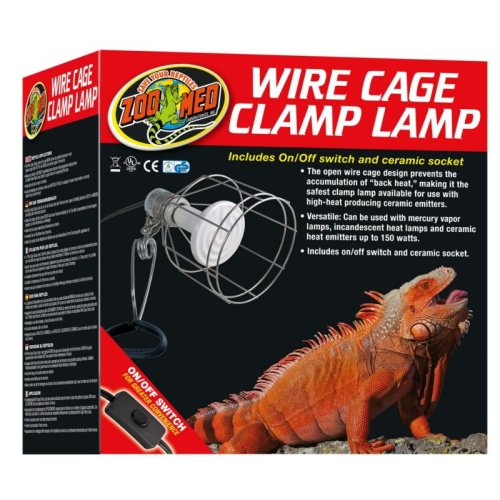 Wire Cage Clamp Lamp